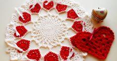 Olá!   Ring of Hearts Doily, Centrinho com Corações,  este eu fiz em 2009.   Agradeço sua visita!