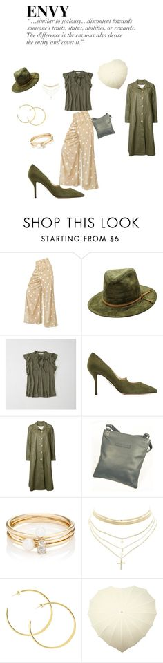 """""""Green with Envy"""" by closet-freak ❤ liked on Polyvore featuring Abercrombie & Fitch, Paul Andrew, Deep Moss, Sampson & Christie, Loren Stewart and Charlotte Russe"""