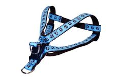 Sassy Dog Wear 1824Inch BlueBrown Puppy Paws Dog Harness Medium ** Check this awesome product by going to the link at the image.(This is an Amazon affiliate link and I receive a commission for the sales)