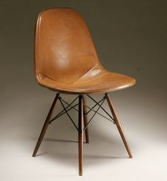 Eames leather (wired) chair