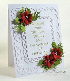 Poinsettia card More