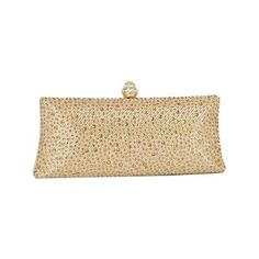 Women's J. Furmani 66845 Studded Hardcase Clutch - Gold Purses (230 ILS) ❤ liked on Polyvore featuring bags, handbags, clutches, gold, hard clutch, beige evening bag, studded purse, gold evening bag and studded handbags