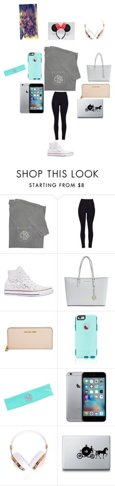 """""""Ugh school!"""" by mackenzielacy814 ❤ liked on Polyvore featuring Converse, Michael Kors, OtterBox, Frends, Disney, women's clothing, women, female, woman and misses"""