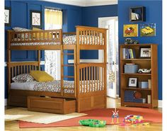 Atlantic FurnitureColumbia Bunk Bed with Raised Panel Drawers www.DEQOR.com
