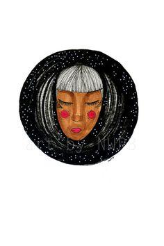 Into the night. Illustration. Art print on Etsy, $10.00