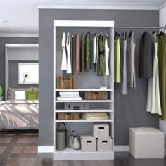 Cheap closet systems are here to meet the market that does not have to be expensive. To benefit the specific needs of your closet organization. Closet Shelves, Closet Storage, Closet Organization, Cheap Closet Organizers, Corner Shelves, Jewelry Organization, Organization Ideas, Organizing, Master Closet Design