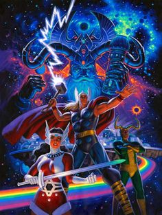 Comic-View — steverogerscap:   Thor, Odin, Lady Sif and Loki by...