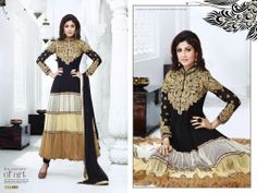 Anarkali Suit MRP: Rs.5,699/- Order Here: http://www.artncraftemporio.com/handcrafted-apparels/suits.html Georgette Anarkali Suit with Embroidered Yock & Sleeve with Stone Work & Georgette Dupatta