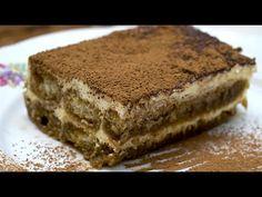 Tiramisu - Az én alapszakácskönyvem - YouTube Classic Desserts, Italian Desserts, Lemon Desserts, Sweet Desserts, Easy Desserts, Sweet Recipes, Dessert Recipes, Easy Tiramisu Recipe, Tiramisu Dessert