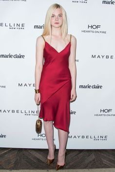 Elle Fanning in Versace at the Marie Claire's Fresh Faces Party | Tom & Lorenzo Fabulous & Opinionated
