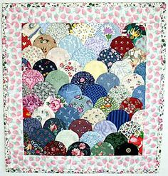 Clam shell charm quilt