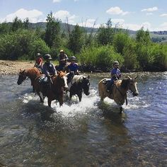 Congratulations to our #CLazyUMugShot winner for this week, @amrynearson on Instagram! We love her photo of a horseback creek crossing. Don't forget to enter your favorite C Lazy U vacation photos and videos with us by uploading them to Instagram with the #clazyumugshot hashtag! You could win your own set of C Lazy U copper mugs or a grand prize 2-night stay on the ranch!