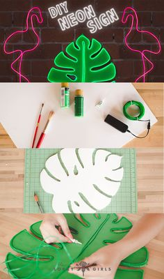 Neon signs for your dorm room! The perfect back to school DIY! Follow for more!