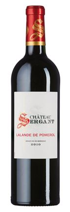 Château Sergant 2010: Duft nach dunklen Beeren, Cassis und Pflaumen.  Fruchtbetonter Rotwein mit reifen Gerbstoffen und frischer Säure.