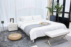 140 Stylish Bedroom Design Ideas - Home Stylish Bedroom, Cozy Bedroom, Dream Bedroom, Bedroom Decor, Bedroom Ideas, Bedroom Setup, Bedroom Images, Bedroom Themes, White Bedroom