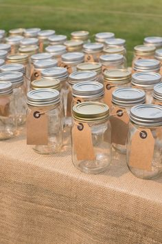 Mason Jar Wedding Drinks