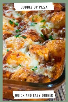 Could You Eat Pizza With Sort Two Diabetic Issues? Bubble Up Pizza Casserole Is A Blast From The Past. Speedy And Easy Recipe To Make Using Canned Biscuits. Quick Easy Meals, Easy Dinner Recipes, Easy Recipes, Pizza Recipes, Beef Recipes, Pizza Casserole, Casserole Recipes, Chicken Casserole, Bubble Up Pizza