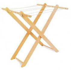 tendedero de madera de juguete para niños