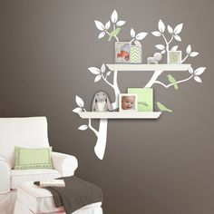 Tree Branch Decal with Birds for Shelves  Gender by Lulukuku, $54.00