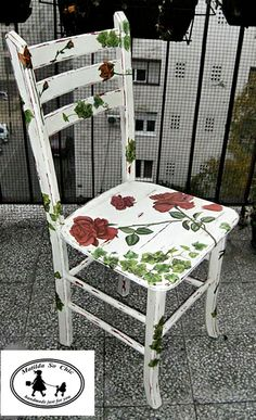 Decoupage wooden chair