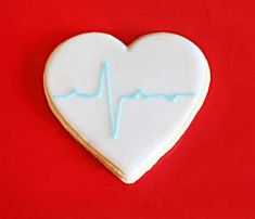EKG Cookies (Nursing Cookies)
