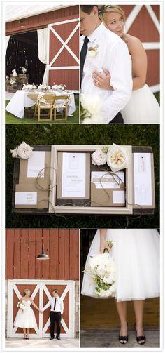 Rustic elegance inspiration shoot (via @100LayerCake) #wedding #invitation #barn