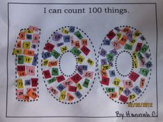 pinterest 100th day | 100th Day of school idea | School