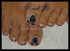 Black Cat Toes by RadiD from Nail Art Gallery Creative Nail Designs, Creative Nails, Pedicure Nails, Pedicures, Nail Tips, Nail Ideas, Animal Nail Art, French Acrylic Nails, City Nails