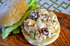 Orchard-Style Chicken Salad! Minus the nuts for me please!
