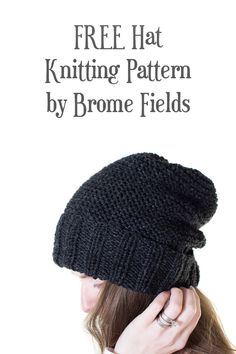 443f0a0dcdb Grab the FREE REVERIE : Hat Knitting Pattern. This hat is knit flat in  garter stitch with decreases for the crown and then seamed to bring it all  together.