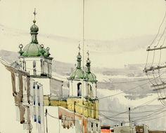 Urban Sketchers: Emerging from my den