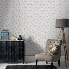 Rosebud Floral Wallpaper - Designer Flower Wall Coverings by Graham  Brown