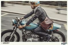 Honda new-wave cafe racers : : : The Distinguished Gentleman's Ride by Laurent Nivalle, via Behance Cafe Racer Helmet, Cafe Racer Bikes, Cafe Racer Motorcycle, Motorcycle Style, Motorcycle Outfit, Cafe Racers, Cafe Bike, Classic Motorcycle, Motorcycle Girls
