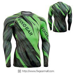 #FIXGEAR #Compression Base Layer Long Sleeve #Shirts, model no CFL-68G, Skin Tights and Advanced Performance Fabric. ( #AeroFIX ) #Rashguard #Workout #Fitness #Crossfit #Training #MMA #Jujitsu #Yoga