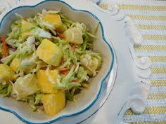 Mango-Pineapple Slaw