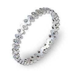Shop online DORA RZZ-00243 Eternity Prong Set White Gold Womens Wedding bands  at Arthur's Jewelers. Free Shipping