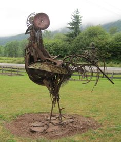 Yard Sculptures, Metal Sculptures, Metal Yard Art, Scrap Metal Art, Welded Art, Farm Art, Metal Birds, Steel Art, Junk Art