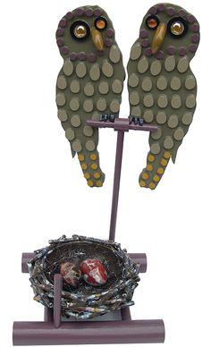 2006 Gufi, materiali vari cm 45x22x20