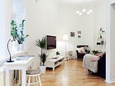 Un piso de 50m² con planta irregular