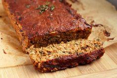 lentil loaf and spicy BBQ sauce (vegan, GF)
