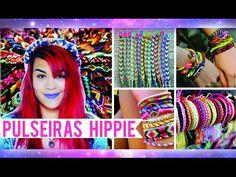 DIY: COMO FAZER TEAR E PULSEIRA HIPPPIE ➸ FRIENDSHIP BRACELET - YouTube