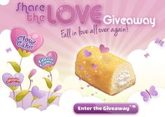 Who doesn't love Little Debbie's delicious snacks? No matter your favorite – nutty bars, chocolate cupcakes, zebra cakes or cloud cakes – you'll want to enter the Little Debbie's Share the Love Sweepstakes. It could bring winners a pair of American Airlines gift cards worth $2,500 or other prizes, including restaurant gift cards and prize packages of Little Debbie prize packs. Fall in love all over again. Yum!