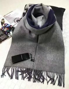 Autumn/Winter 2016 Givenchy Scarves Outlet-Women's Givenchy Bicolor Cashmere Scarf 30x200cm
