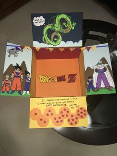 DBZ themed Birthday Care package