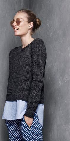 Shirtail sweater -- J.Crew #Fall2014
