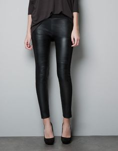 LEGGINGS EN SIMILI CUIR - Pantalons - Femme - ZARA France
