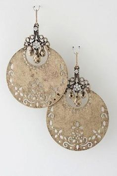 Golden Boho Statement Earrings on Emma Stine Limited by Mother of Dragons
