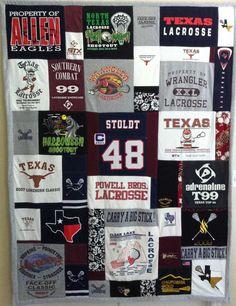 Lacrosse T-shirt Memory Quilt Mosaic Style
