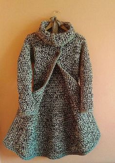 sk - crochet - for adults - Crochet Coat, Knitted Coat, Crochet Cardigan, Crochet Clothes, Kids Knitting Patterns, Knitting For Kids, Baby Knitting, Sewing Patterns, Poncho Mantel