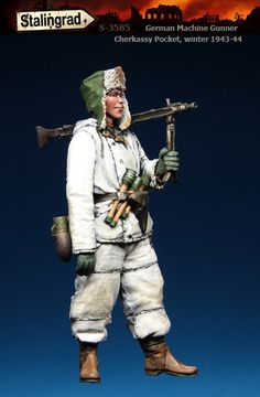 German Machine Gunner, Cherkassy Pocket, winter 1943-44